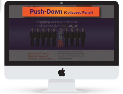 Push-Down (Collapsed Panel)